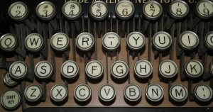 typewriter close up